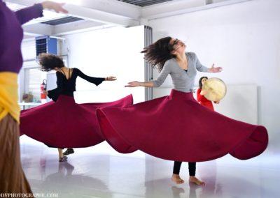 Stage de Danses sacrées, soufies, transe, rituelles avec Maelia Carera & Ella Osman. Lausanne, 27.01.2018 Photo: Delphine Valloton